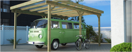 Caravancarport Bausätze aus Holz